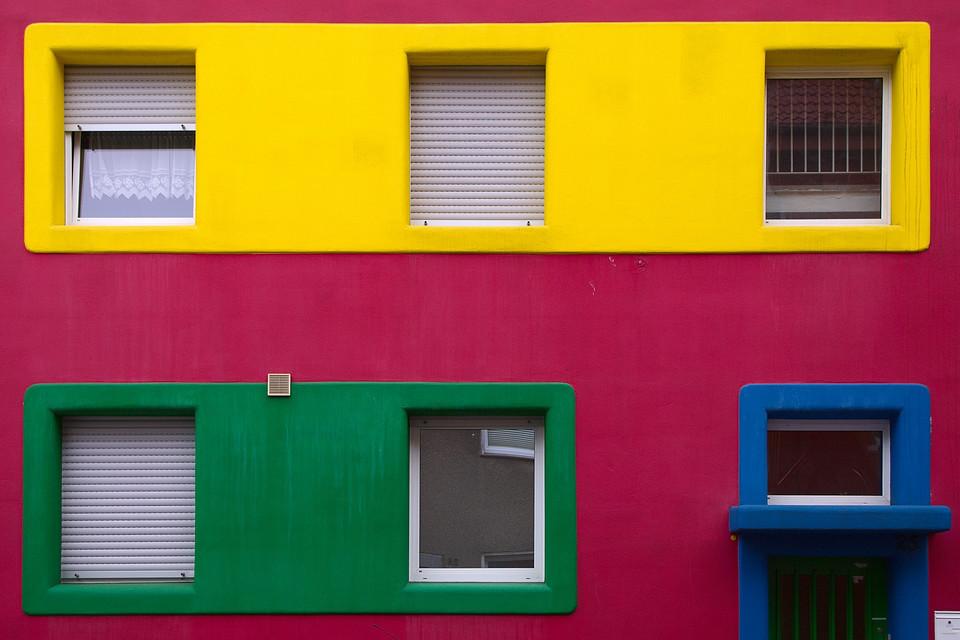 Elementarfarben-Haus