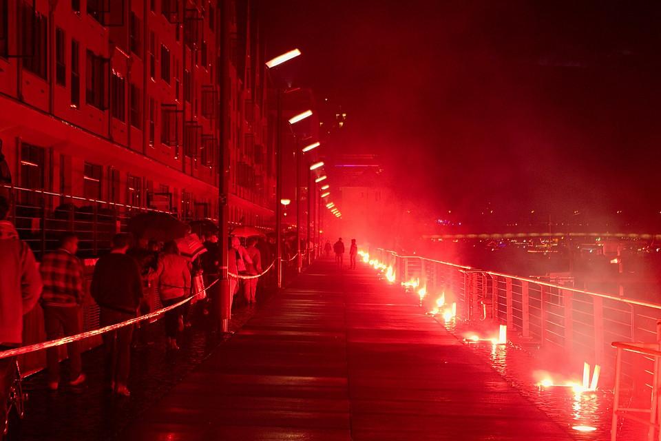 Kölner Lichter 2012 im Rheinauhafen