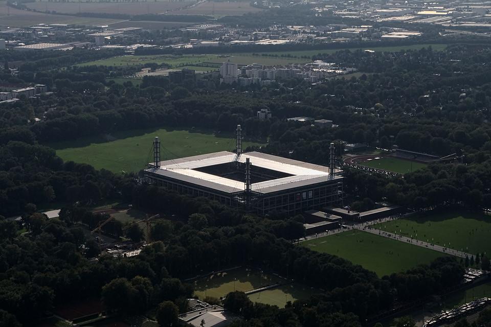Luftbild vom Stadion