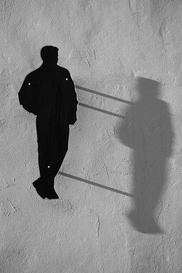 Silhouette mit Schatten