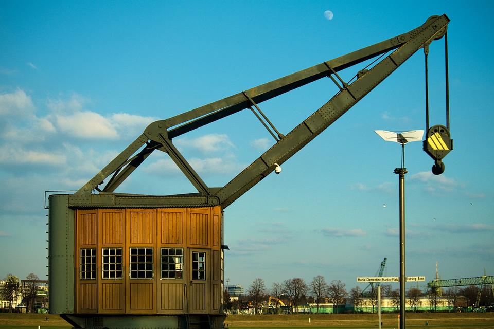 Kran im Rheinauhafen